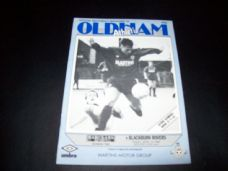 Oldham Athletic v Blackburn Rovers, 1987/88